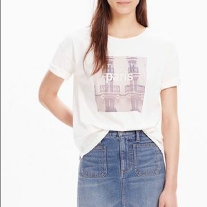 Madewell Paris Graphic Tee Shirt Size Small